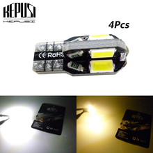 4x Canbus Car LED T10 W5W No Error 5730 Chips For Golf 5 6 Polo Jetta2 Bora Passat 3C CC B7 Tiguan Eos AUDI BMW Benz 2x w164 t10 w5w led 4014smd wedge light sidelight no error for volkswagen polo passat b5 b6 cc golf 4 5 6 7 mk6 tiguan