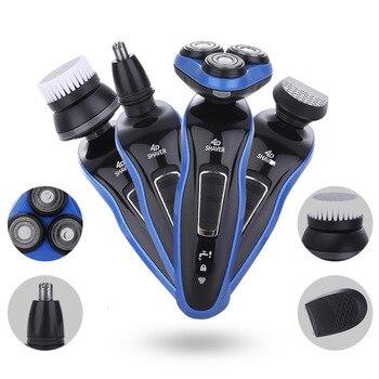 цена на Electric Shaver for Men Shaving Machine 3D floating shaver, nose ear trimmer Razor Nose trimmer Face Hair Shaving Trimmer