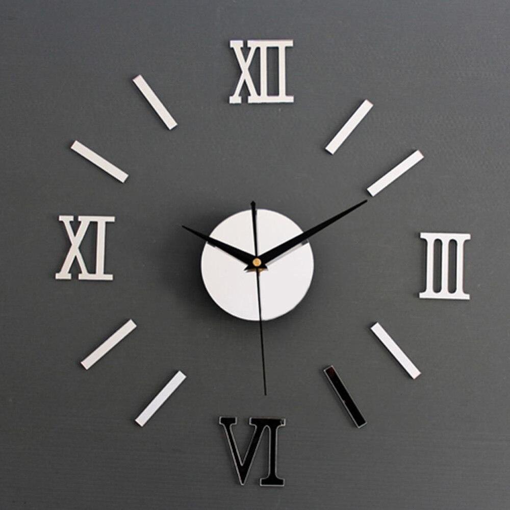 3D Wall Clock Mirror Wall Stickers Fashion Living Room Quartz Watch DIY Home Decoration Clocks Sticker reloj de pared 7
