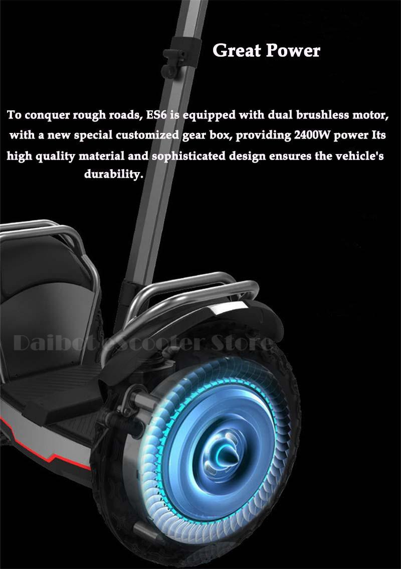 Daibot Powerful Electric Scooter 19 Inch Two Wheesl Self Balancing Scooters Off Road Hoverboard Skateboard For Adults (51)
