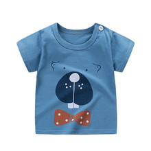 Children Tops Kids Clothes Girls Cotton T Shirts for Boys Short Sleeve Summer T-shirts Beach 2019 Clothes Little Girls Clothing cheap Unini-yun Fashion cartoon REGULAR O-Neck Fits true to size take your normal size 6688