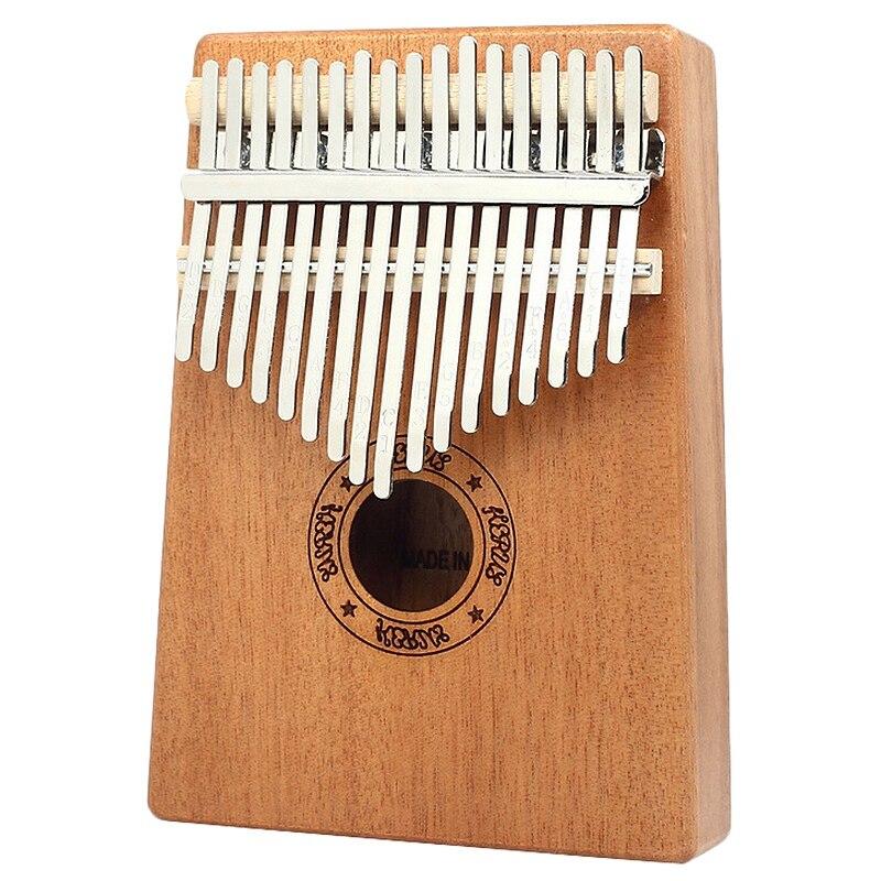 Kalimba Thumb Piano 17 Keys Mahogany Wooden Finger Percussion For Music Lover Beginners Children