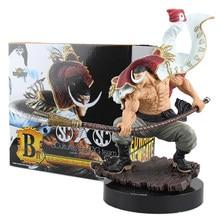 Anime uma peça branca barba piratas edward newgate ação figura filme ouro b c estatueta bom pvc modelo de brinquedo presente masculino grande 22cm