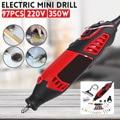 220 В 180 Вт электрическая мини-дрель с переменной скоростью  вращающийся инструмент для Dremel  мини-электрическая шлифовальная машина  аксессуа...