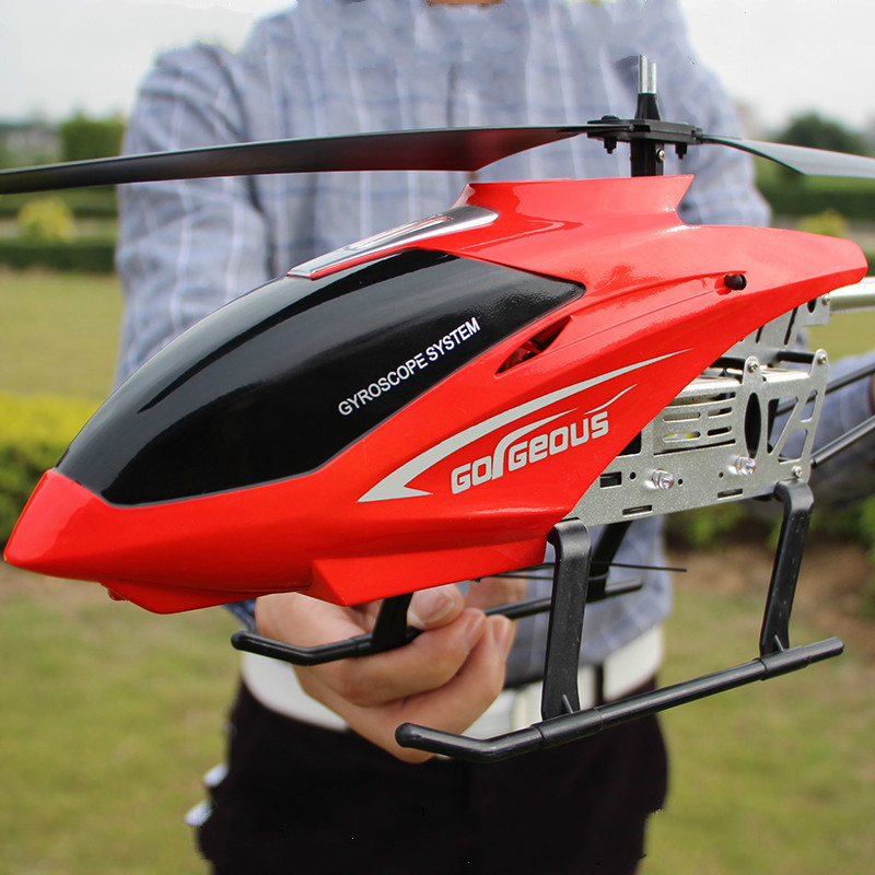 80cm Large With LED Light RC Helicopter Drones Helicopter Remote Control Children Outside Flying Toys Boys Toys For 10 Year Old