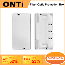 ONTi 10Pcs Optic Cable Protection Box Optical Fiber Protection Box Heat Shrink Tubing to Protect Fiber Splice Tray 2 into 2 out