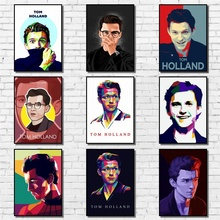 Wall-Sticker Painting Poster Tom-Holland Abstract Paper for Coffee House-Bar Performer