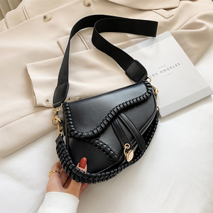 2020 summer new women's pillow bag, classic woven handbag, light luxury fashion Single Shoulder Messenger Bag
