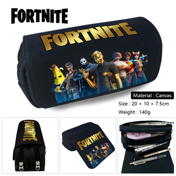 New Pencil Case School Cartoon Fortnite Black Pen Bag School Supplies Stationery Schoolbag Birthday Party Gifts for Boys