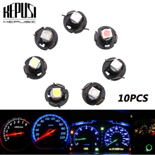 10x T3 Neo Wedge Led Switch Radio Climate Control Bulb Gauge Dashboard Indicator Light for Honda Civic Blue Red Green White red