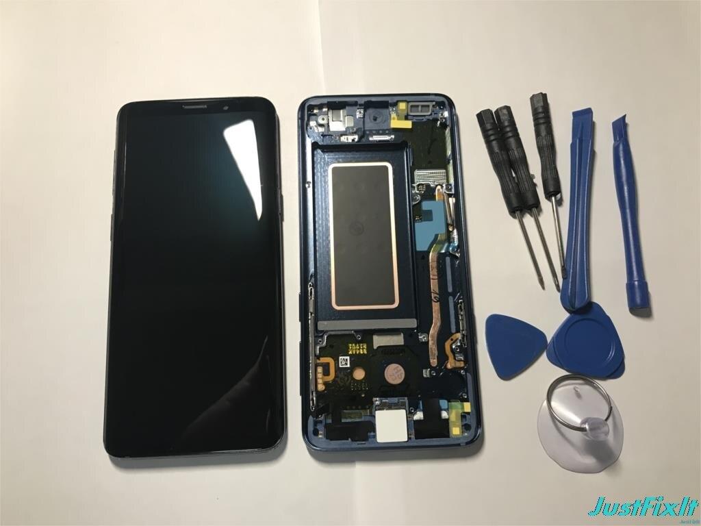 サムスンギャラクシー S9 G960 G960F 欠陥液晶ディスプレイタッチスクリーンデジタイザスーパー AMOLED  グループ上の 携帯電話 & 電気通信 からの 携帯電話用液晶ディスプレイ の中 1