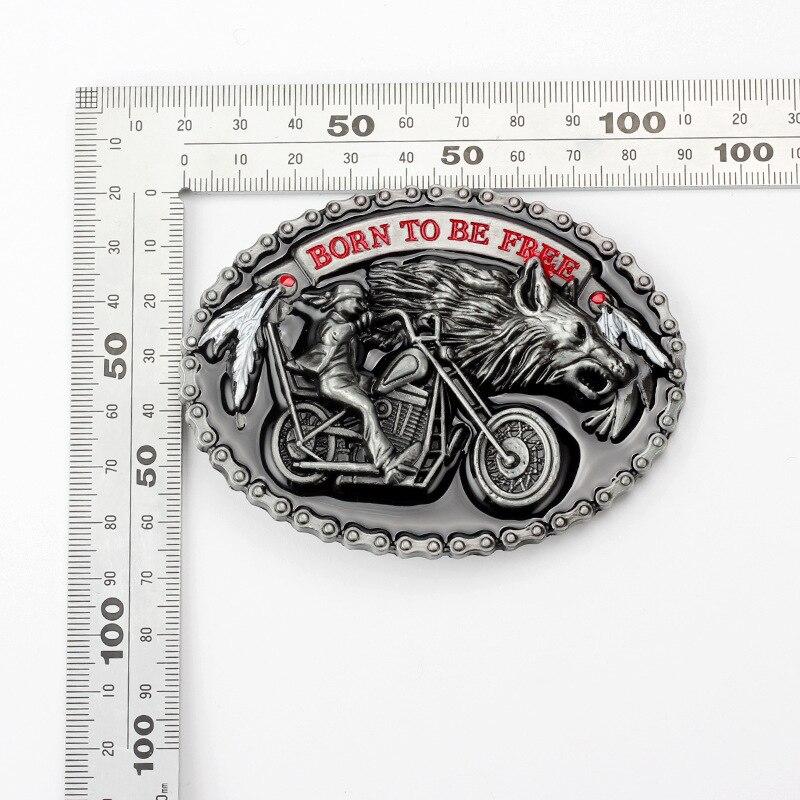 Motorcycle locomotive Belt Buckle Handmade homemade belt accessories waistband DIY Western cowboy Heavy metal rock punk k47