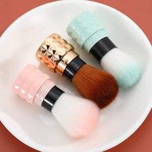 1pcs/lot Makeup brush small and portable telescopic single loose powder brush beauty tool fat head blush brush single antibacterial bamboo charcoal fiber powder blush brush tool