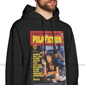 Image 2 - Pulp Fiction Hoodie Pulp Fiction Hoodies Outdoor Winter Pullover Hoodie Men Fashion Cotton Long Blue XXL Hoodies