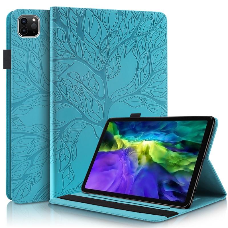 11 Funda Pro for iPad Coque Emboss-Tree Stand-Tablet Flip-Case Wallet