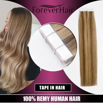 Na zawsze włosy 2 0 g sztuka 16 #8222 18 #8221 20 #8222 taśma w naturalne doczepy z ludzkich włosów popiołu blond europejskiej skóry wątek Remy do przedłużania włosów 40g pac tanie i dobre opinie FOREVER HAIR 2 g sztuka Remy włosy 20TAPE21COLOR Darker Color Only European Hair Straight 40 Gram 20 Pieces At Least 80 Pcs are Suggest