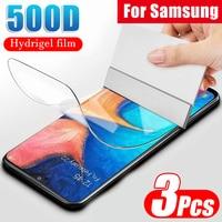 500D Hidrogel de Proteção Filme Para Samsung Galaxy A10 A20 A30 40 A50 A60 A70 A80 A7 A8 2018 M10 M20 Não Protetor de Tela de Vidro|Protetores de tela de telefone|   -