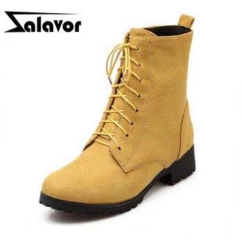 ZALAVOR Size 33-47 5 Colors Flats Boots Warm Fur Woman'S Shoes Fur Half Short Boots Simple Fashion Short Boots Female Shoes