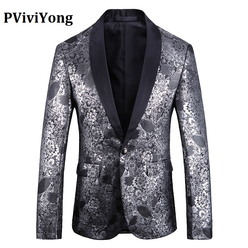 PViviYong Brand 2019 High Quality Suit Top For Men,wedding Banquet Night Club Party For Men Fashion Suit Men Jacket  1919