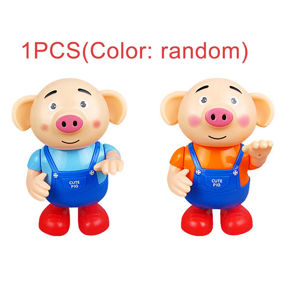 Hot Cute Seaweed Dancing Pig Singing Walking With Light Kids Electronic Vocal Toys Boys Girls Gift Interactive Developmental Toy