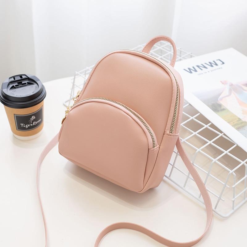 De moda Mochila pequeña de Color sólido mochila para mujer mochila para 2019 mujeres bolsas de hombro teléfono móvil bolso para chica adolescente regalo