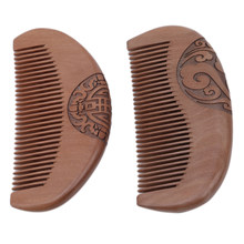 Natural Peach Fragrant Anti-static Natural Wood Hair Care Comb Women Man Healthy Comb(China)