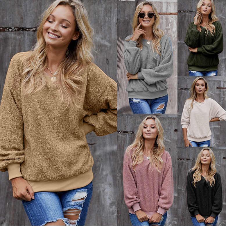새로운 솔리드 스웨터 pullovers 뜨거운 겨울 귀여운 하라주쿠 전체 까마귀 스웨터 플러스 크기 드롭 선박 여성 여성 운동복 코트