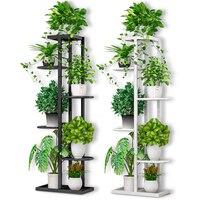متعدد الطوابق داخلي البساطة الحديثة المنزلية شرفة الحديد الفن من الجرف غرفة المعيشة الزهرية الهبوط نوع الأخضر لو-في رفوف النبات من الأثاث على