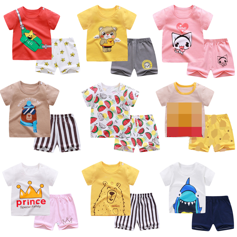 Boys Cartoon Animal T Shirt Cute Cotton T-shirt Short Sleeve Outfit  Boy Streetwear Clothes for Toddler Infant Kids Suit Summer 1