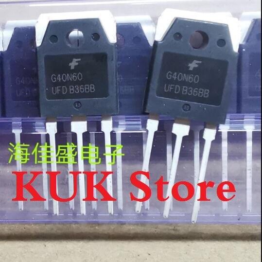Original 100% NEW G40N60 UFD G40N60UFD SGH40N60UFD SGH40N60UFDTU IGBT 40A 600V TO-3P 10PCS/LOT