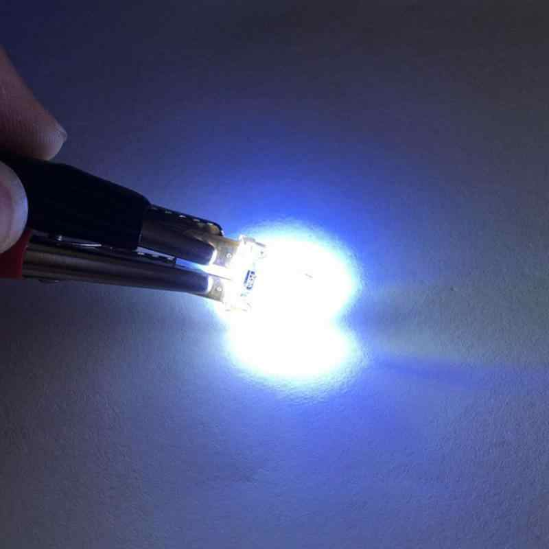 Yeni LED W5W T10 194 168 W5W Led park ampul otomatik kama gümrükleme lamba silika parlak plaka ampuller mavi işık Styling