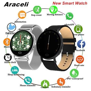 2020 Photo Smart Watch Circular Screen SmartWatch Bracelet Bluetooth Heart Rate Monitor Blood Pressure Tracker Smart Watch Q8
