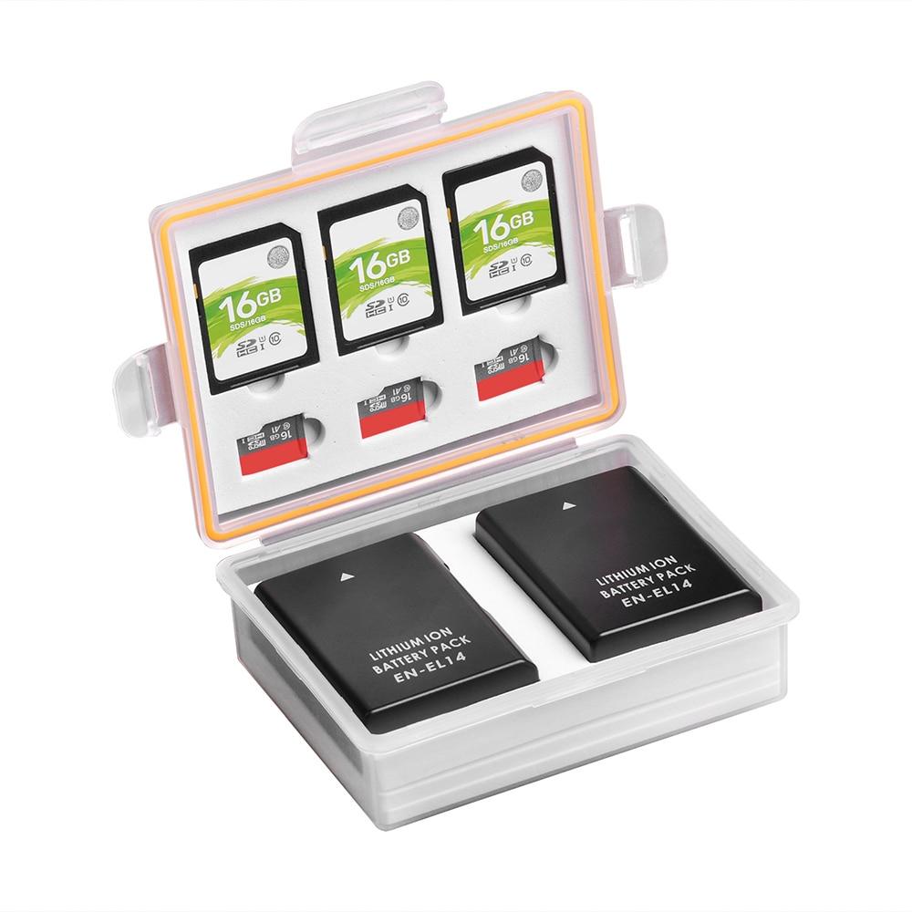 Camera Battery Box Storage SD TF Memory Card Case for Nikon EN-EL14 EN-EL20 EN-EL22 EN-EL9 Canon LP-E5 LP-E8 PS-BLS5 DMW-BLC12