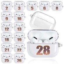 Мягкие прозрачные чехлы для airpods pro a2084 a2083 прозрачный