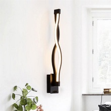 16W 85-265V Modern Minimalist Wall Lamps LED Sconce White Black Lampshade Tricolor Light Aisle Lighting Home Decor 2019 Newest