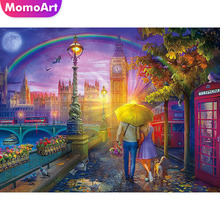 MomoArt Diamond Painting Lovers Embroidery Landscape Mosaic Full Drill Square Weeding Decoration