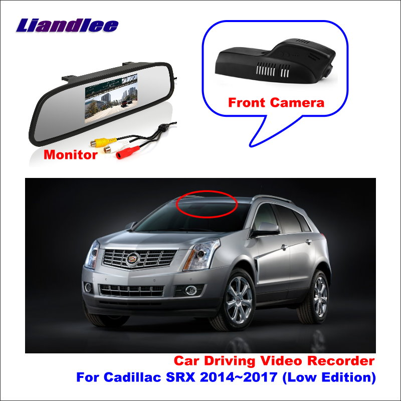 Liandlee Car DVR Wifi Video Recorder Dash Cam Camera for Cadillac SRX 2014~2017 (Low Edition) Night Vision APP image