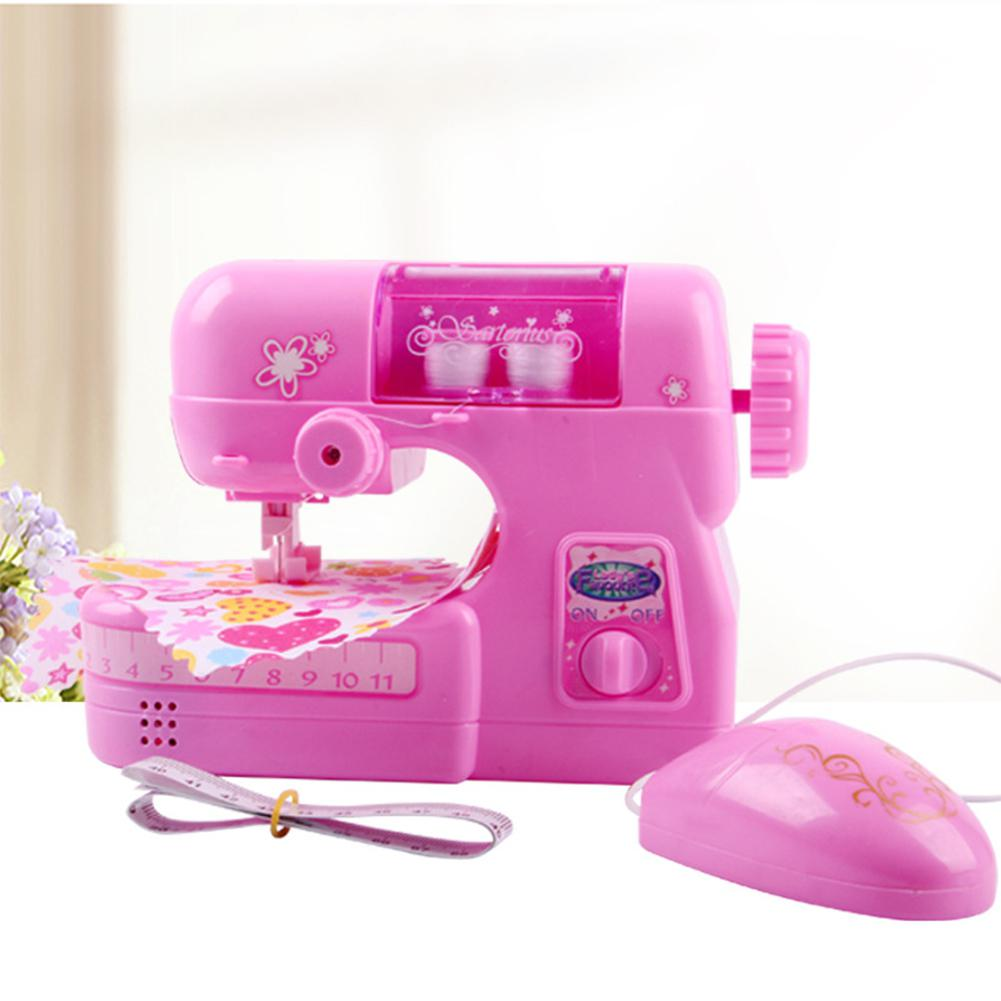 Kids Girl Simulation Children Sewing Machine Small Appliances Toy Sets Pretend Toy