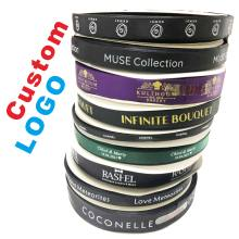 Cheaper 6mm-100mm Custom Printed Flat Ribbon Personalized Logo Polyester Ribbon Wedding Birthday Satin Ribbons 100 yard /lot