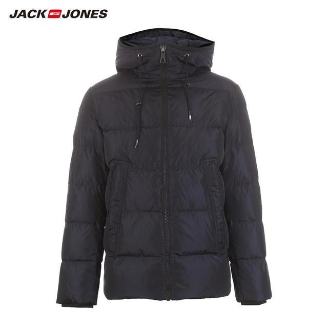 Chaqueta de plumón con capucha casual de moda de JackJones para hombre abrigo parka corto para hombre 218412509