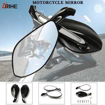 New Motorcycle Accessories Aluminum Stripe Rearview Side Mirrors For DUCATI MONSTER 696 796 695 620 400 Monster696 Monster795