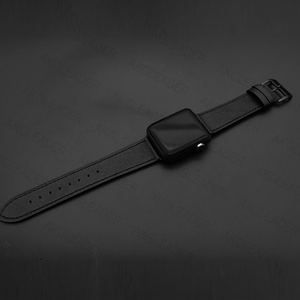 Image 2 - 40mm 44mm Black Strap For Apple Watch Series 5 Watchband Genuine Leather Bracelet Single Double Tour Bands For iWatch Series 3 2