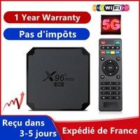 Nuovo X96 Mini 5G Iptv Box Android 9.0 Tv Box Amlogic S905W4 1G 8G 2G 16G Smart Ip Tv Set Top Box nave dalla francia