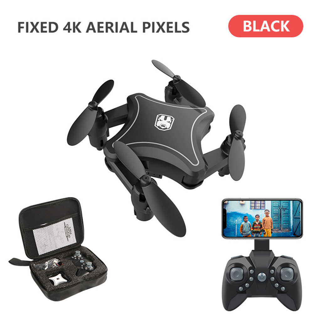 KY902 2 4G Quadcopter Toy Foldable Helicopter 4 Channels ABS WIFI HD 6 Axis Gyro With Storage Bag Mini RC Drone Rechargeable