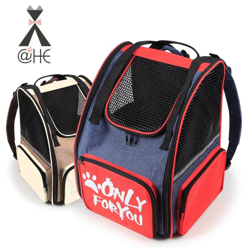 @ HE mode épaule Portable respirant pliable chat et chien Pet poitrine sac à dos mallette de voyage fournitures pour animaux de compagnie