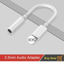 3.5mm Earphone Adapter for IPhone X XR XS Max 8 7 6 6s Plus AUX Headphones Adapter for I Phone Xsmax Xmax IPhone7 Accessories(China)