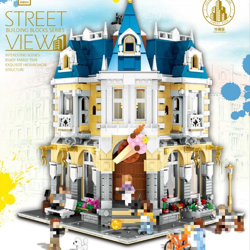 QL0923 Creator MOC Street View Series MOC-14603 The Costume Shop Building Blocks 2032pcs Bricks Toys Sets Compatible Creator