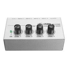 Audio-Mixer 4-Channels Portable MX400 Us-Plug Karaoke