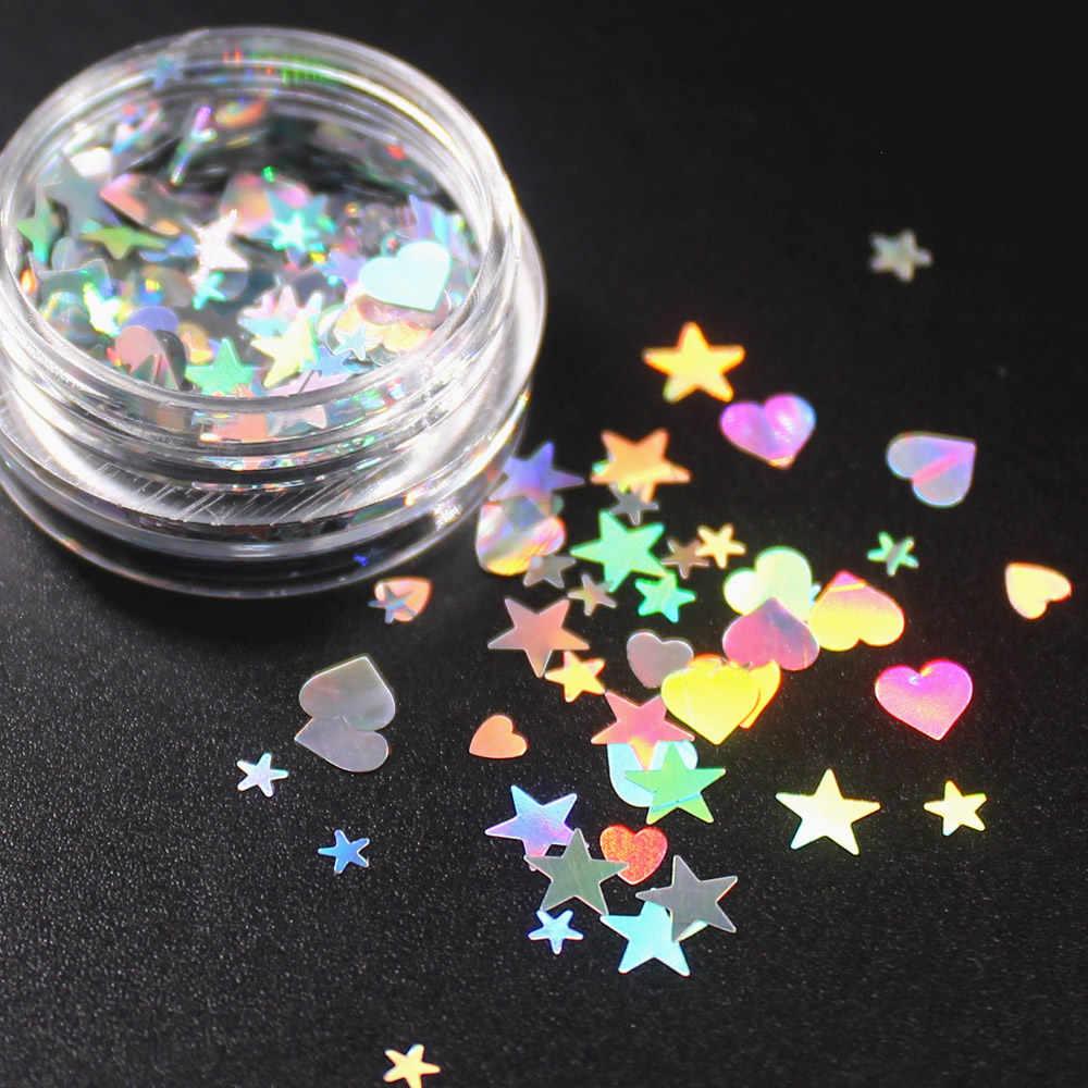 1 pçs diy arte do prego mix estrelas coração lantejoulas prego strass contas irregulares manicure 3d decoração da arte do prego em unhas acessórios