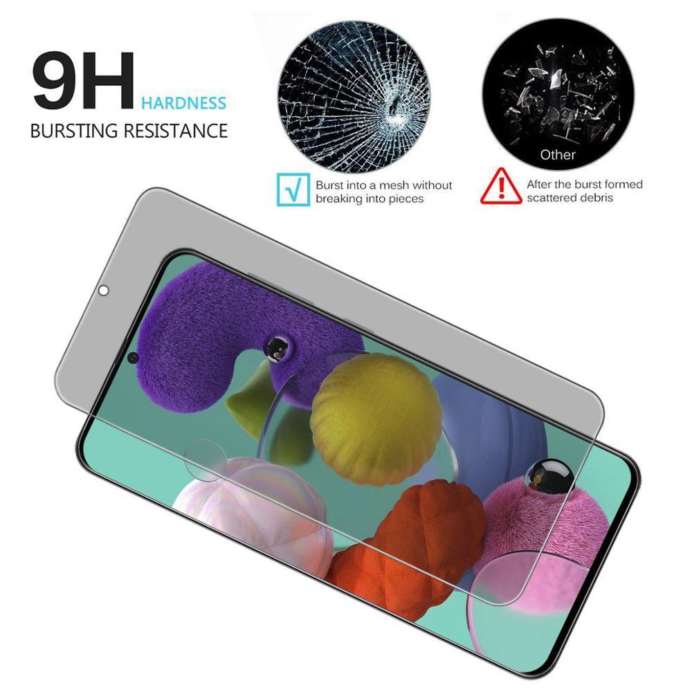 9H с защитой от подглядывания премиум класса, закаленное стекло для Samsung Galaxy A41 протектор экрана для Samsung A41 Анти-шпион Анти поверхностного упр...